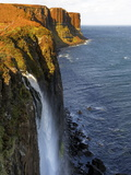Waterfall at Kilt Rock  Famous Basaltic Cliff Near Staffin  Isle of Skye  Inner Hebrides  Scotland