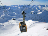 Nebelhorn Cable Car and Allgau Alps Near Oberstdorf  Bavaria  Germany  Europe