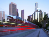 The 110 Harbour Freeway and Downtown Los Angeles Skyline  Los Angeles  California  United States of