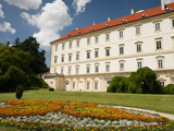 Baroque Valtice Castle with Floral Decoration in its Gardens  Valtice  Brnensko  Czech Republic  Eu