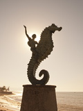 The Seahorse Sculpture on the Malecon  Puerto Vallarta  Jalisco  Mexico  North America
