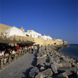 Cafe Scene Outside the Medina  Hammamet  Cap Bon  Tunisia  North Africa  Africa