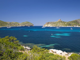 View across Bay to the Castle  Cabrera Island  Cabrera Archipelago National Park  Mallorca  Baleari