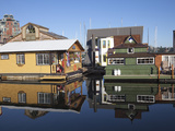 Colourful Boat Houses  Fisherman's Wharf  Victoria  Vancouver Island  British Columbia  Canada  Nor