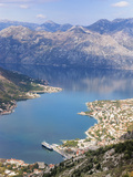 High View of the Fjord at Kotor Bay  Kotor  UNESCO World Heritage Site  Montenegro  Europe
