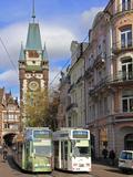 Martinstor  Old Town  Freiburg  Baden-Wurttemberg  Germany  Europe