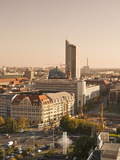 Skyline of Leipzig  Saxony  Germany  Europe
