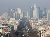 La Defense from the Arc De Triomphe  Paris  France  Europe