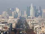La Defense from the Arc De Triomphe  Paris  France  Europe