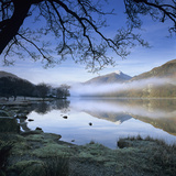 Mist over Llyn Gwynant and Snowdon  Snowdonia National Park  Conwy  Wales  United Kingdom  Europe