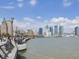 The Bund Colonial Buildings and Skyline  Huangpu River  Shanghai  China  Asia