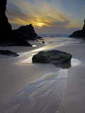 Evening  Bedruthan Steps  Cornwall  England  United Kingdom  Europe