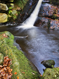Upper Waterfall at Posforth Gill  Bolton Abbey  Yorkshire  England  United Kingdom  Europe