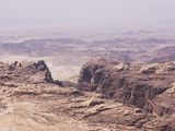 The Rugged Landscape at Petra  Jordan  Middle East