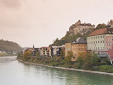 The Salzach River in Burghausen  Bavaria  Germany  Europe