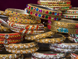 Colourful Braclets for Sale in a Shop in Jaipur  Rajasthan  India  Asia