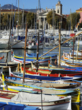 Colourful Boats in Port Lympia  Quartier Du Port  Nice  Alpes Maritimes  Provence  Cote D'Azur  Fre