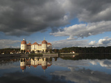Baroque Moritzburg Castle and Reflections in Lake  Moritzburg  Sachsen  Germany  Europe