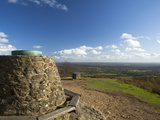 View South from Cairn at the Top of Holmbury Hill  Surrey Hills  Surrey  England  United Kingdom  E