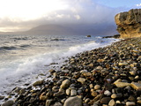 Waves Breaking on the Rocky Foreshore at Elgol  Isle of Skye  Inner Hebrides  Scotland  United King