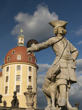 Baroque Statue at Moritzburg Castle  Moritzburg  Sachsen  Germany  Europe