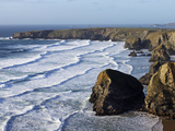 Bedruthan Steps  Cornwall  England  United Kingdom  Europe