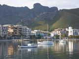 View across the Harbour  Port De Pollenca  Mallorca  Balearic Islands  Spain  Mediterranean  Europe