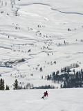 Skier at Jackson Hole Ski  Jackson Hole  Wyoming  United States of America  North America