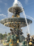 Fountain at Place De La Concorde  Paris  France  Europe