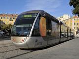 Tram  Place Garibaldi  Nice  Alpes Maritimes  Provence  Cote D'Azur  French Riviera  France  Europe
