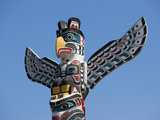 The Top of a Totem Pole  Stanley Park  Vancouver  British Columbia  Canada  North America