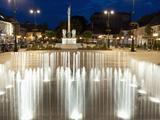 Evening Scene around Baroque Plague Column  Hauptplatz Square  Tulln  Niederosterreich  Austria  Eu