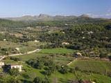 View over Pastoral Landscape from the Sanctuary of Sant Salvador  Arta  Mallorca  Balearic Islands