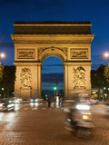 Traffic around Arc De Triomphe  Avenue Des Champs Elysees  Paris  France  Europe