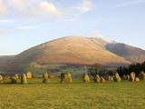 Blencathra from Castlerigg Stone Circle  Keswick  Lake District National Park  Cumbria  England  Un