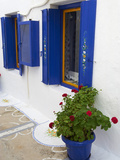 Blue Shutters  Plaka  Old Village  Milos  Cyclades Islands  Greek Islands  Greece  Europe