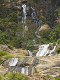 Rawana (Ravana) Falls  a Popular Sight by the Highway to the Coast as it Drops Thru Ella Gap  Ella