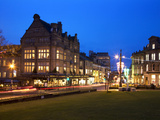 Bettys and Parliament Street at Dusk  Harrogate  North Yorkshire  Yorkshire  England  United Kingdo