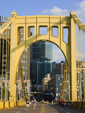 Roberto Clemente Bridge (6th Street Bridge) over the Allegheny River  Pittsburgh  Pennsylvania  Uni
