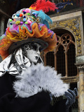 Masked Figure in Costume at the 2012 Carnival  Venice  Veneto  Italy  Europe