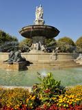 Fontaine De La Rotonde (Rotunda Fountain)  Aix-En-Provence  Bouches-Du-Rhone  Provence  France  Eur