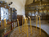 Candles in Orthodox Church  Greece  Europe