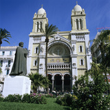 The Cathedral Along Avenue Bourguiba  Tunis  Tunisia  North Africa  Africa