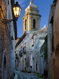 Cobbled Alleyway at Dusk  Erice  Sicily  Italy  Europe