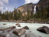 Kicking Horse River and Takakkaw Falls  Yoho National Park  UNESCO World Heritage Site  British Col