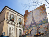 Painting for Sale in the Place Du Tertre  Montmartre  Paris  France  Europe