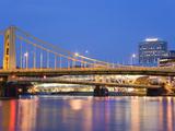 Andy Warhol Bridge (7th Street Bridge) over the Allegheny River  Pittsburgh  Pennsylvania  United S