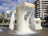 Albatross Fountain by Tanya Ashley in Frank Kitts Park  Wellington  North Island  New Zealand  Paci