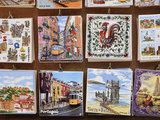 Souvenir Tiles in Shop Display  Lisbon  Portugal  Europe