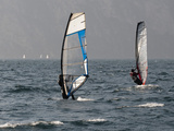 Windsurfers at Torbole Del Garda  Lake Garda  Trentino-Alto Adige  Italian Lakes  Italy  Europe
